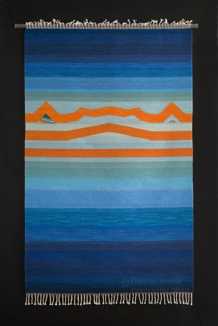 "Wool Tapestry, 62""x 39"", 2012, $4,800.00 available from artist"